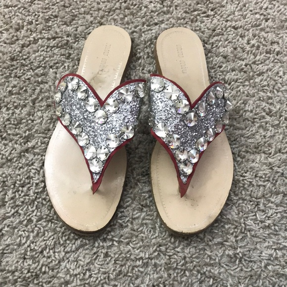 a7f854444a988 Miu Miu Shoes   Jeweled Heart Sandal   Poshmark